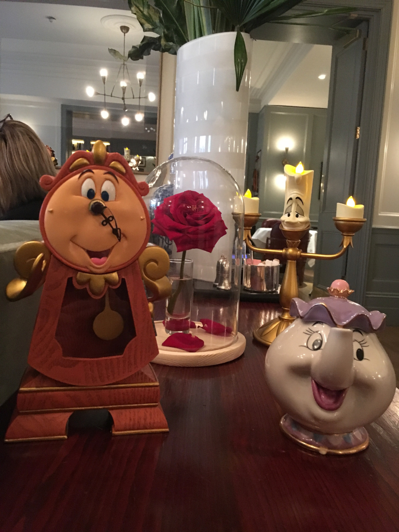picture of Lumiere Cogsworth Mrs Potts the Enchanted Rose
