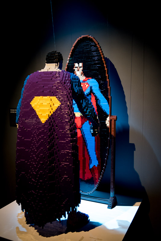 Superman looks in the Mirror in Lego